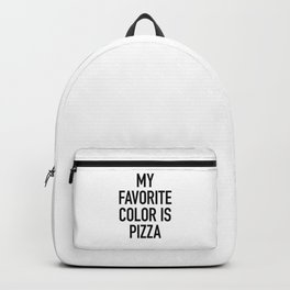 My Favorite Color is Pizza - White Backpack