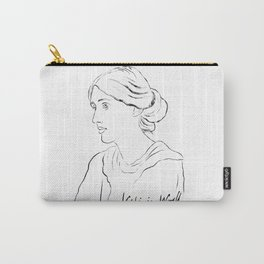 Virginia Woolf Portrait with Signature Carry-All Pouch