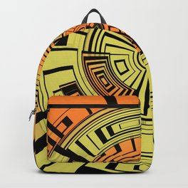 Futuristic technology abstract Backpack