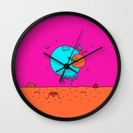 Happy Planets Wall Clock