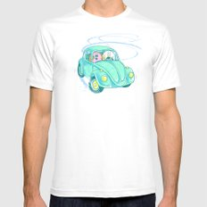 We're Doing Donuts!  White MEDIUM Mens Fitted Tee