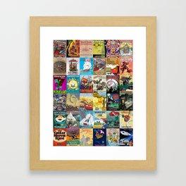Amusement Rides Framed Art Print