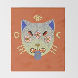Mystic Cat Throw Blanket