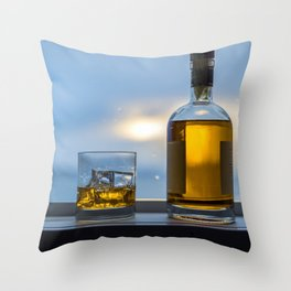 Evening Cocktail on Ice Throw Pillow
