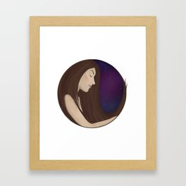 You're a voice singing me to sleep Framed Art Print
