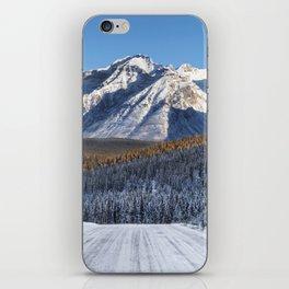Winter Wonderland - Road in the Canadian Rockies iPhone Skin