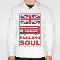 england Hoodies featuring England Soul by Tony Vazquez