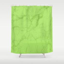 Lime Carrara Marble Shower Curtain