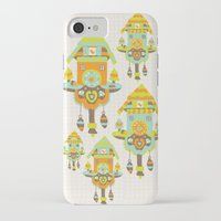 wall clock iPhone & iPod Cases featuring Clock Wall by Leanne Oughton
