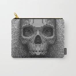 Pixel Skull B&W Carry-All Pouch