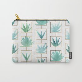 Mid Century Succulents Carry-All Pouch