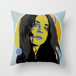 Woodstock in My Mind Throw Pillow