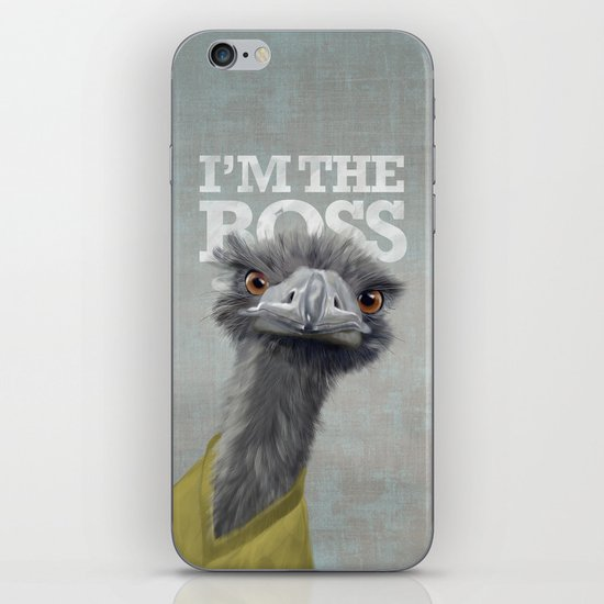 I am the Boss - Ostrich. iPhone & iPod Skin