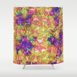 Neon Extrusion III Shower Curtain
