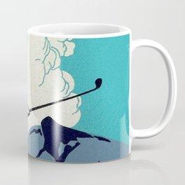 Japanese Golfer Vintage Matchbox Label Poster Coffee Mug