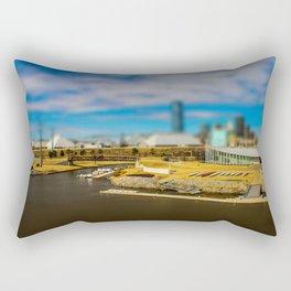 Oklahoma River by Monique Ortman Rectangular Pillow