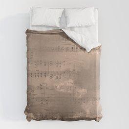 Sheet Music - Mixed Media Partiture #2 Duvet Cover