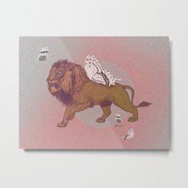 Gold Lion Metal Print