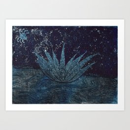 Lotus and the Spider Art Print