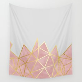 Pink & Gold Geometric Wall Tapestry