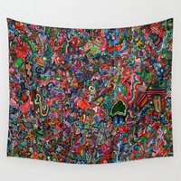 brain Wall Tapestries featuring Brain by C Z A V E L L E