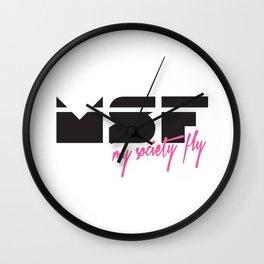 MSF - My Society Fly Wall Clock