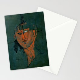 """Amedeo Modigliani """"Red Head (Tête rouge)"""" Stationery Cards"""