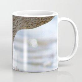 Watercolor Bird, Willet 09, Eating Rusty Crayfish, Longmont, Colorado, A Mouthful! Coffee Mug