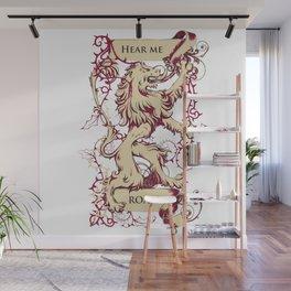 Lion - Hear me roar Wall Mural
