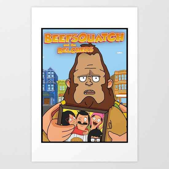 Beefsquatch Art Print