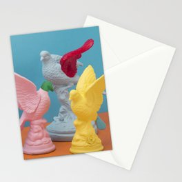 Pigeon meeting Stationery Cards