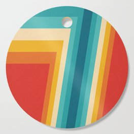 Colorful Retro Stripes  - 70s, 80s Abstract Design Cutting Board