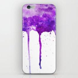 VIOLET GALAXY SPLASH iPhone Skin