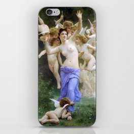 The Invasion (The Wasp's Nest) Le Guêpier by William-Adolphe Bouguereau iPhone Skin