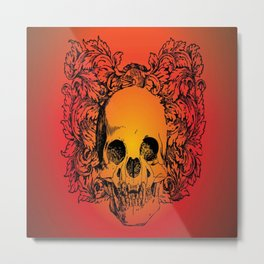 Skull Graphic Metal Print