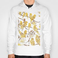 batik Hoodies featuring Feathered Friends Batik by Rendra Sy