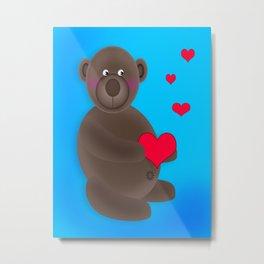 Little Love Bear Metal Print
