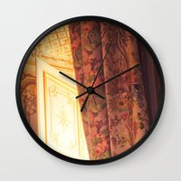 marie antoinette Wall Clocks featuring Antoinette by French Californian