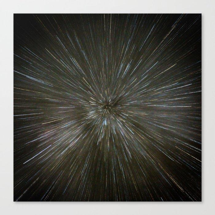 zooming towards stars Canvas Print