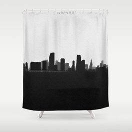City Skylines: Miami Shower Curtain