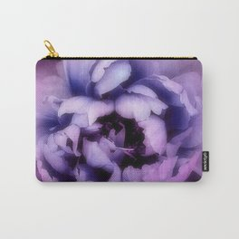 Indulgent Darkness, Violet Peony Carry-All Pouch