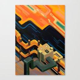 """The Scream"" isometric version Canvas Print"