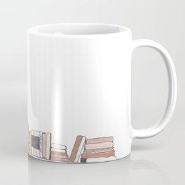 Bookshelf in Blush Coffee Mug