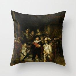 Rembrandt - Night Watch. Throw Pillow