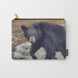 Young black bear in a pond Carry-All Pouch