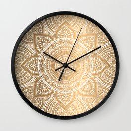 Gold Mandala 3 Wall Clock