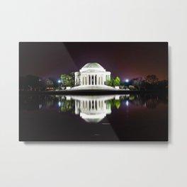 Jefferson Memorial & Tidal Basin Midnight Photographic Metal Print
