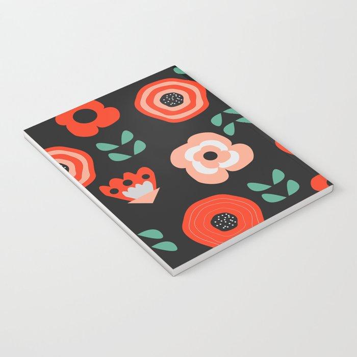 Midnight floral decor Notebook