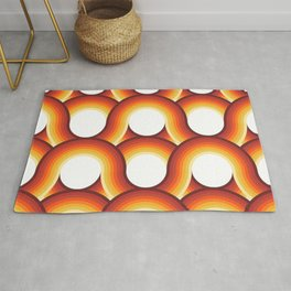 Rollin' Retro Road in Orange Ombre + White Rug