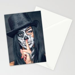Dia De Los Muertos Day of the Dead Sugar Skull Model Makeup Ultra HD Stationery Cards